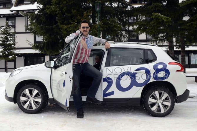 """VIP ličnosti testirale Peugeot 2008 na Kopu.Promocija modela Peugeot 2008 u okviru manifestacije """"Magic night"""" početkom decembra na Kopaoniku omogućila je"""
