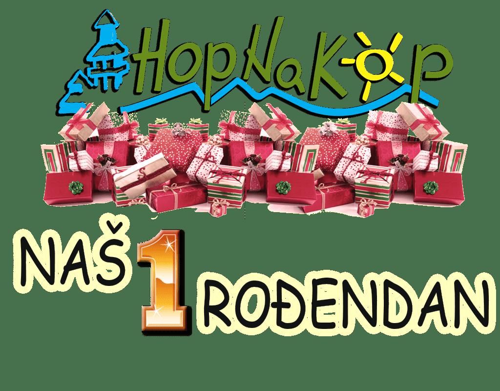HopNaKop deli poklone za svoj prvi rodjendan: Danas mi delimo poklone. Ideja HopNaKop nastala je pre godinu dana i to na današnji dan. Teška godina za nama