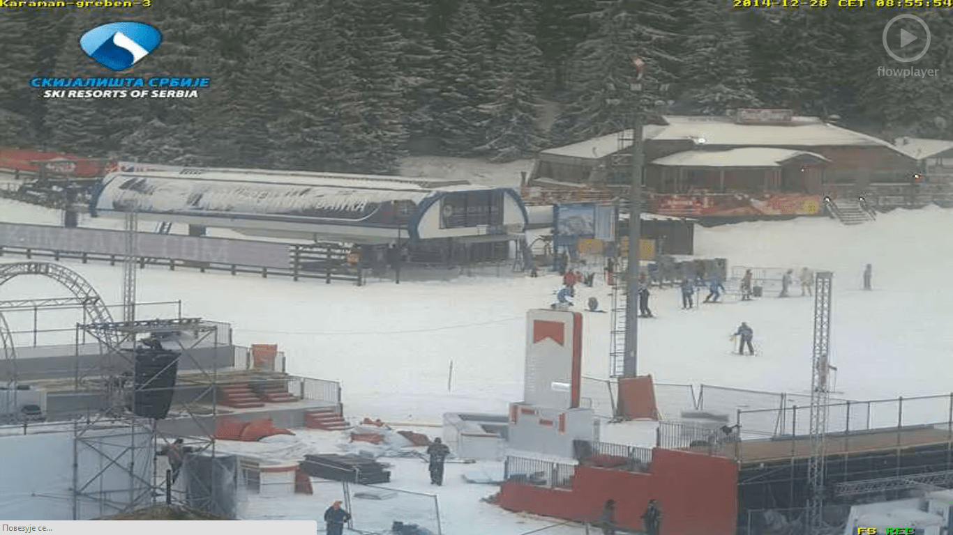 Kopaonik danas 28-12-2014: Na Kopaoniku danas pada jak sneg praćen temperaturom od -13C do -9C. Brzina vetra 9 m/s, vlažnost vazduha je 92%, pritisak 810.6