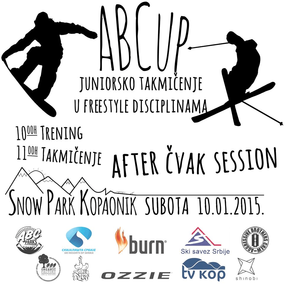 Freestyle takmičenje na Kopaoniku: ABCrew freestyle organizuje januarsko takmičenje na Kopaoniku u freestyle disciplinama u snowboardu i skijanju.