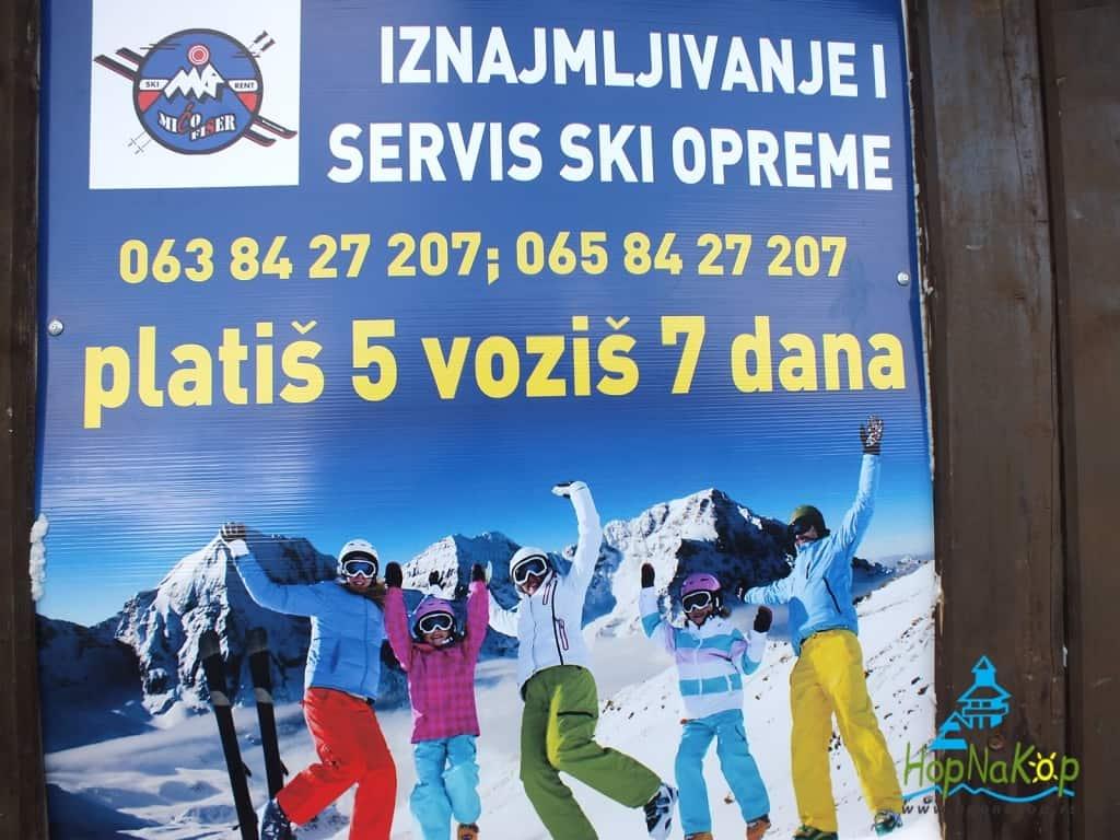 """Platiš 5 voziš 7 dana, Ski servis """"Mićo Fischer"""" do kraja sezone Vam nudi ponudu, unajamite ski opremu na 7 dana, platite po ceni najma za 5 dana!"""