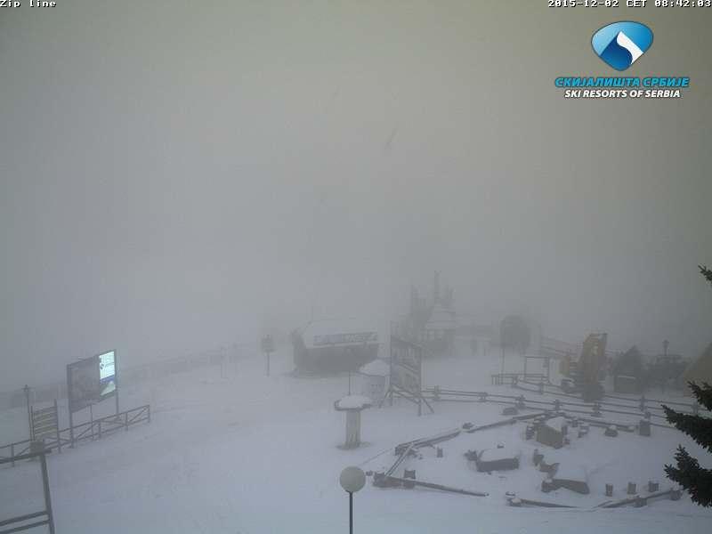 Sa Kopaonika: Danas na Kopaoniku je pretežno maglovito vreme, maksimalna dnevna temperatura će se kretati oko 1 C. Brzina vetra 2 m/s, pravac vetra NW