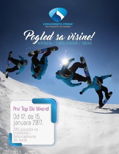 Prvi Top ski vikend na Kopaoniku počinje u četvrtak 12 Januara i traje do 15. januara. U okviru prvog ovogodišnjeg Top ski vikenda, skijaši i borderi ....