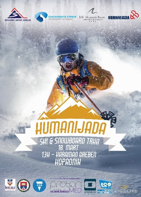 Humanijada: Sa velikim zadovoljstvom Vas obaveštavamo da Humanijada dolazi na Kopaonik! Zajedno sa Skijaškim savezom Srbije, MK Mountain resortom