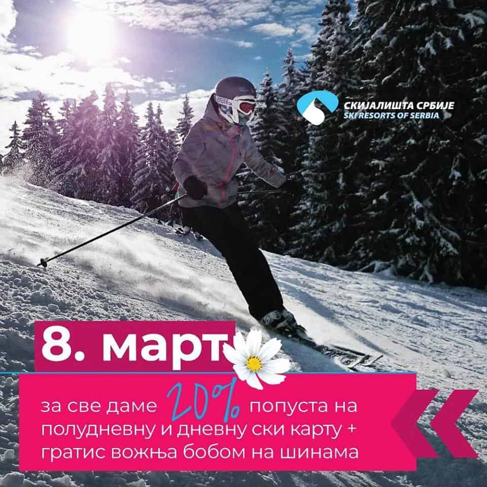 Danas za sve dame važi popust na ski karte i gratis vožnja bobom