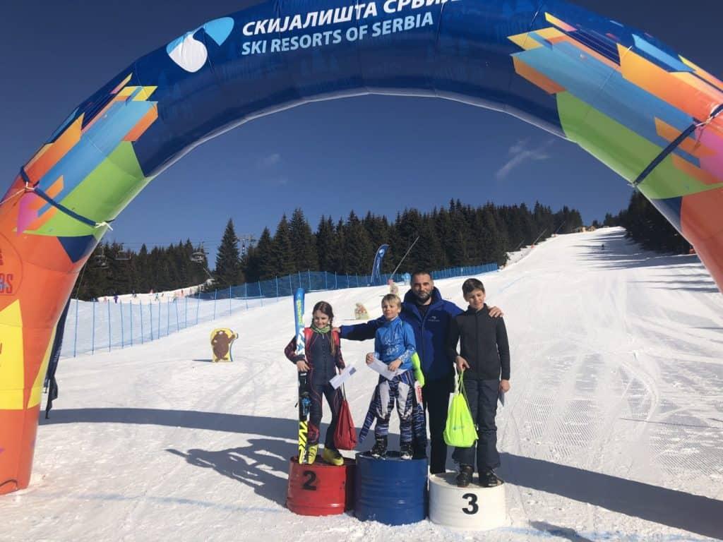 Danas je održana prva dečija ski trka u organizaciji Skijališta Srbije