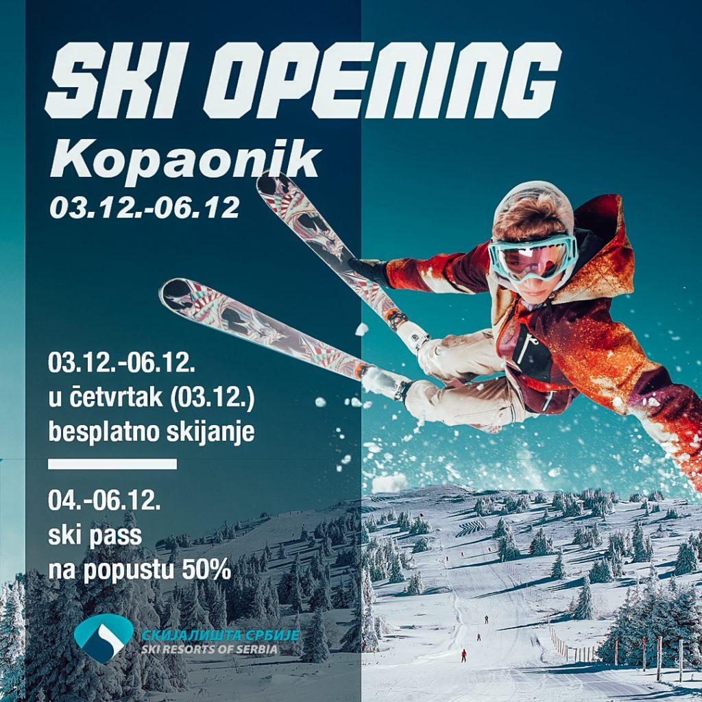 Besplatno skijanje 3. decembra!!!