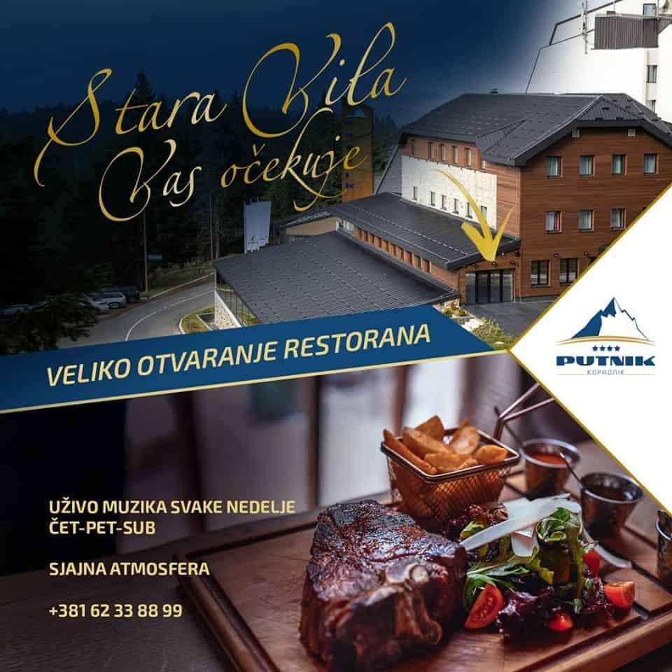 U hotelu Putnik svečano je otvoren restoran Stara Vila - HopNaKop Kopaonik