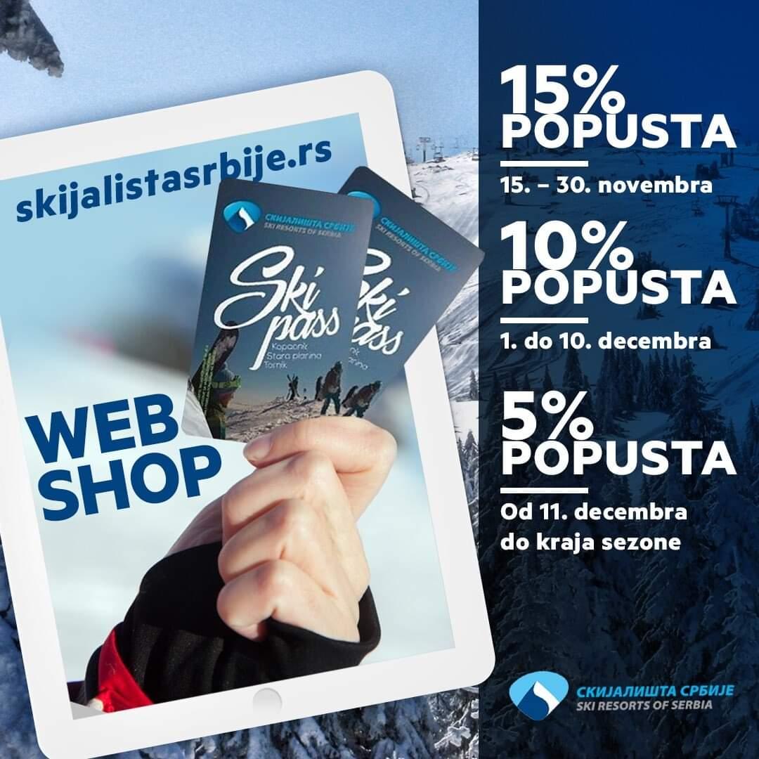 Skijališta Srbije i ove sezone daju popust od 15% na ski pass u pretprodaji - HopNaKop Kopaonik